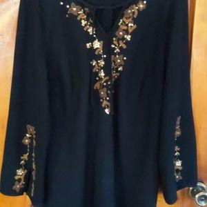Vintage Anne Carson top, beadwork sequins